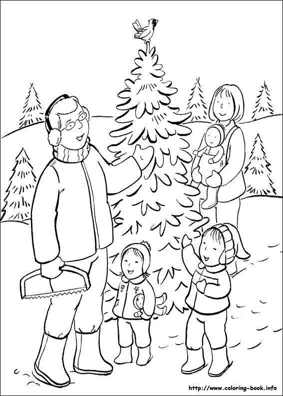 Kleurplaat Dieren Kalimero Pobarvanka Božič