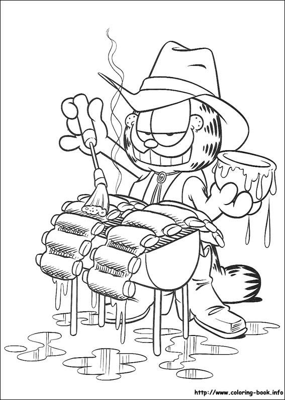 Pobarvanka Garfield
