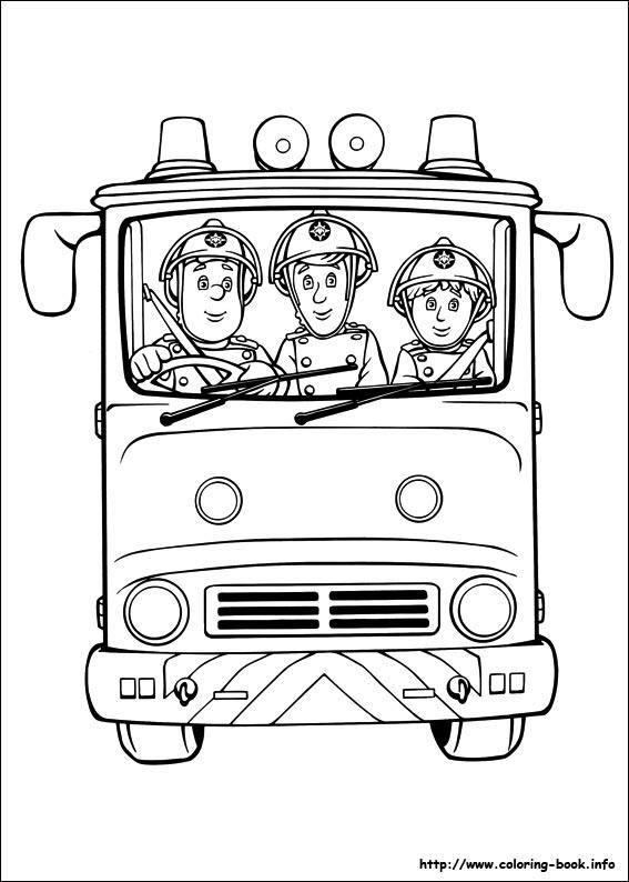 Pobarvanka gasilec samo - Pompier coloriage ...